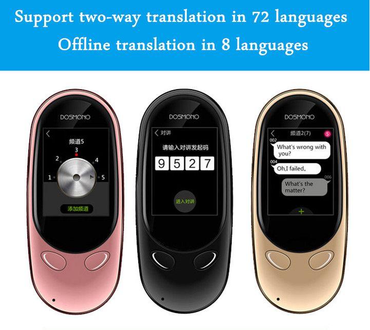 New arrival DOSMONO Transtone MINI+ Offline smart translator Two-way Interpreter 72languages translation