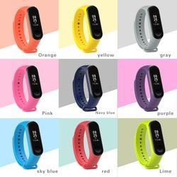 For xiaomi band 4 3 Silicone wrist strap Mi Band 3 4 Bracelet Strap Miband 3 Colorful Strap Wristband Smart Band mi band4