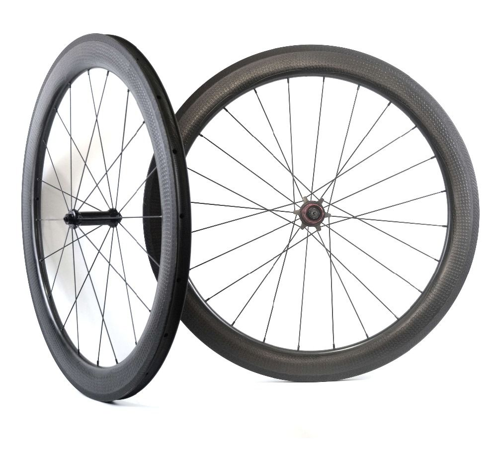 NEW Model! Golf surface carbon wheels 58mm depth 25mm width rims Dimple surface 404 carbon wheelset with Chosen 1586/7187 hub