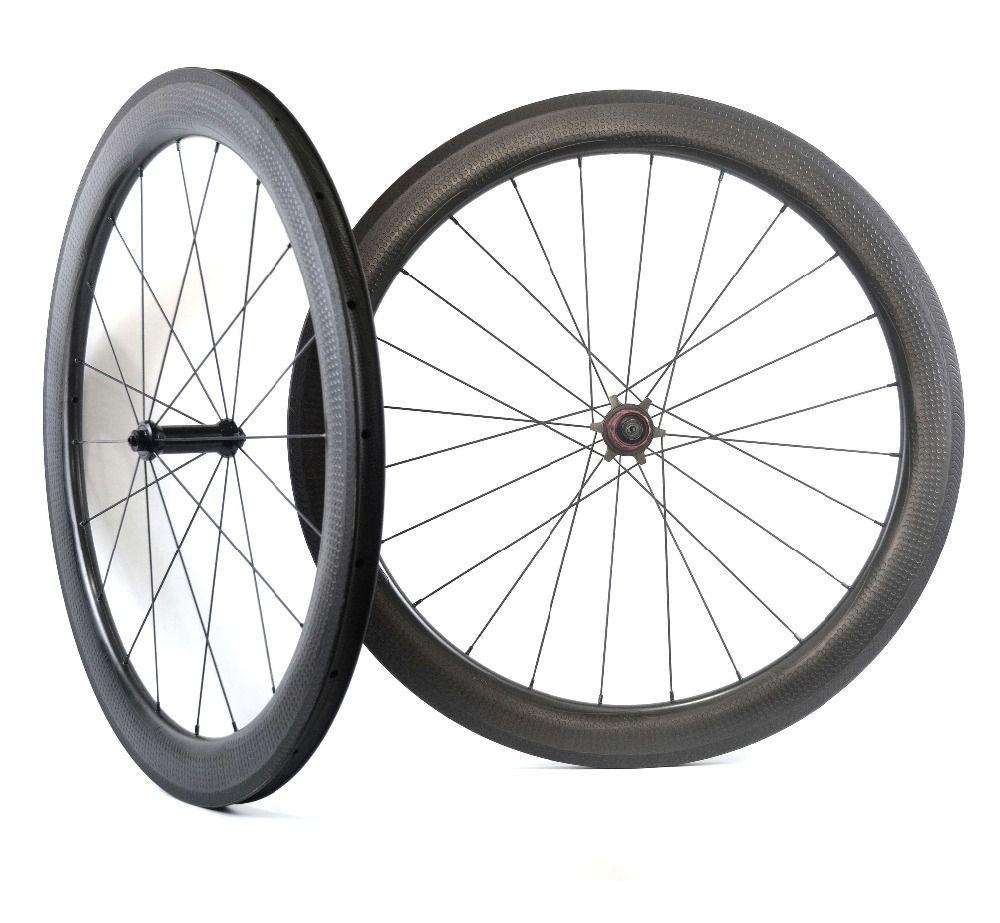 NEW Model! Golf surface carbon wheels 58mm depth 25mm width rims Dimple surface 404 carbon wheelset with Chosen 1586/7187 hub