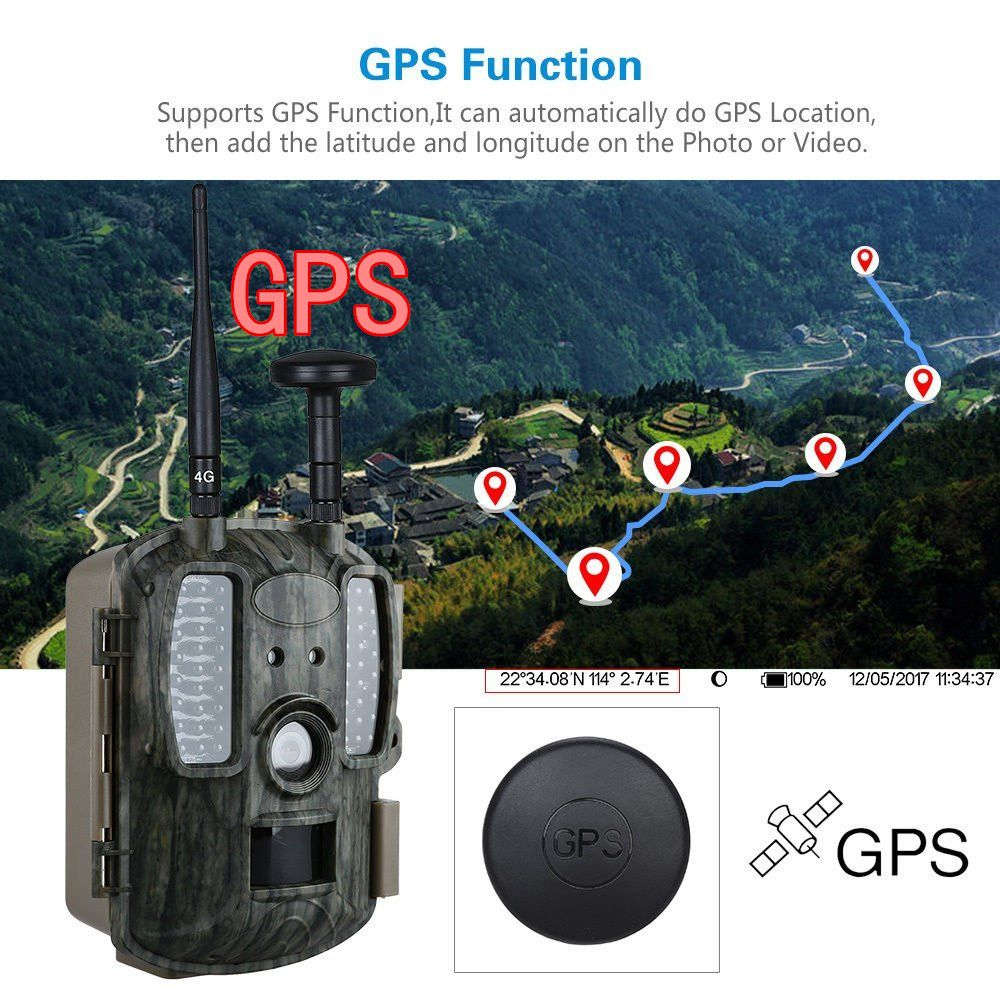 4G Hunting Camera FTP MMS Email GPS Hunting Camera 4G Scouting Infrared Hunter Camera Photo Traps WildKamera Digital Foto Chasse