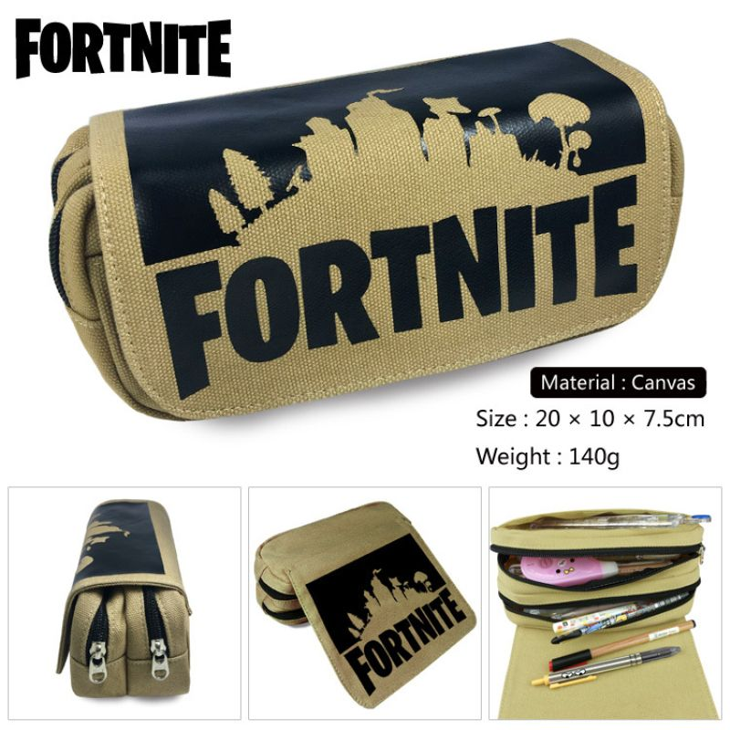 Fortnite Minecraft Roblox Cartoon Pencil Bag Toy Pen Case Kid School Stationery Large Capacity Pencilcase Action Figure Toy Gift