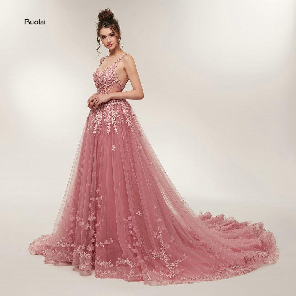 Prom Kleider Lange 2018 Party Kleider vestidos de prom Open Back Abendkleider Prom Party Kleid vestido de noiva Echt probe