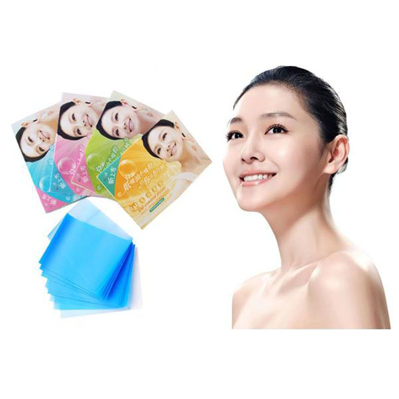 100 Sheets/set Facial Oil Control Absorption Tissue Blotting Papers Face Facial Papers Panuelo facial