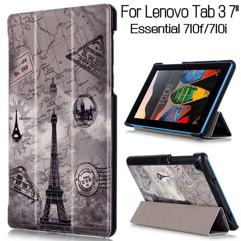 Caso del tirón del soporte magnético para Lenovo TAB 3 esencial 710f 710i 7.0