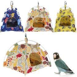 S/L حجم الكرتون الببغاء الطيور خيمة منزلية قماش النسيج الطيور البيت سرير كهف قفص الأرجوحة البسيطة الحيوان الببغاء الحيوانات الأليفة لوازم