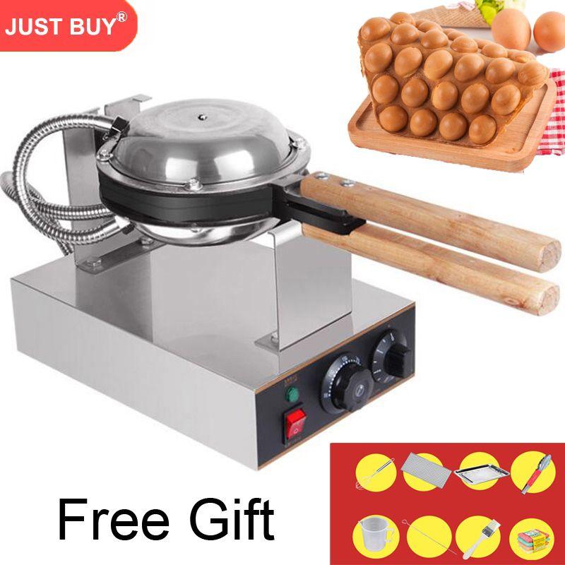 220V/110V commercial electric Chinese Hong Kong eggettes puff cake bubble waffle pan iron maker machine bubble egg cake oven