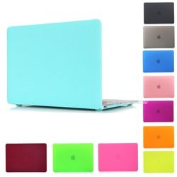 Matte rubberized cubierta dura cristalina para MacBook Pro 13 15 pro retina 12 13.3 15.4 pulgadas MacBook Air 11 13 caja del ordenador portátil