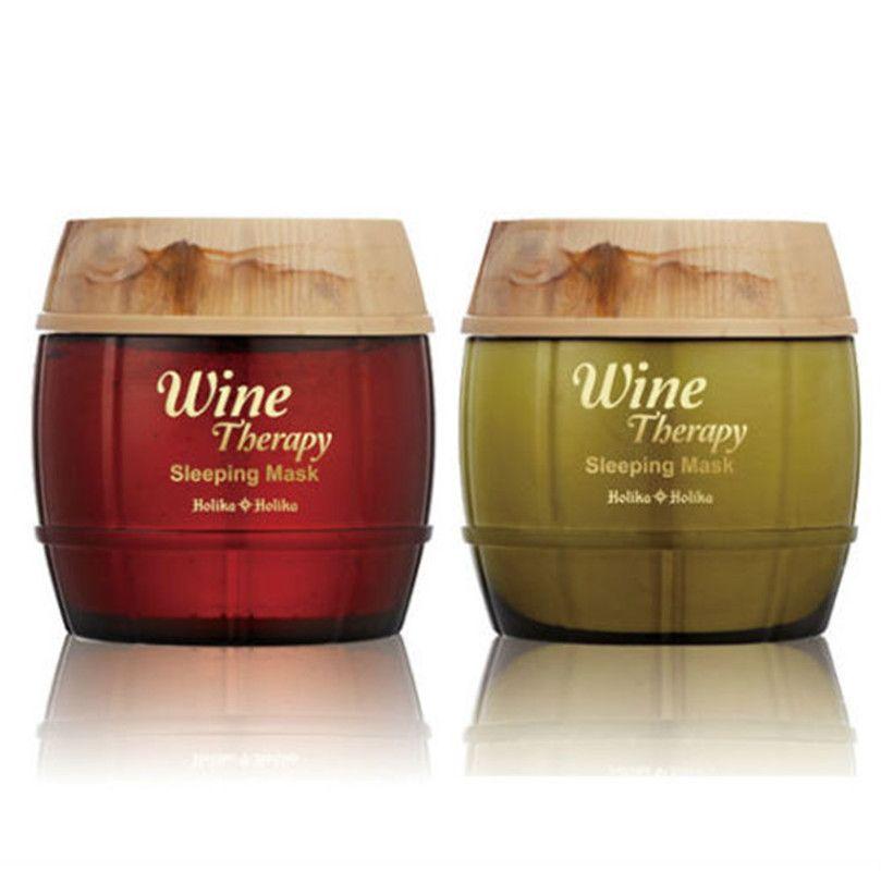 HOLIKA HOLIKA vin thérapie masque de couchage paquet 120 ml 2 type choisir un coréen cosmétiques produits du vin
