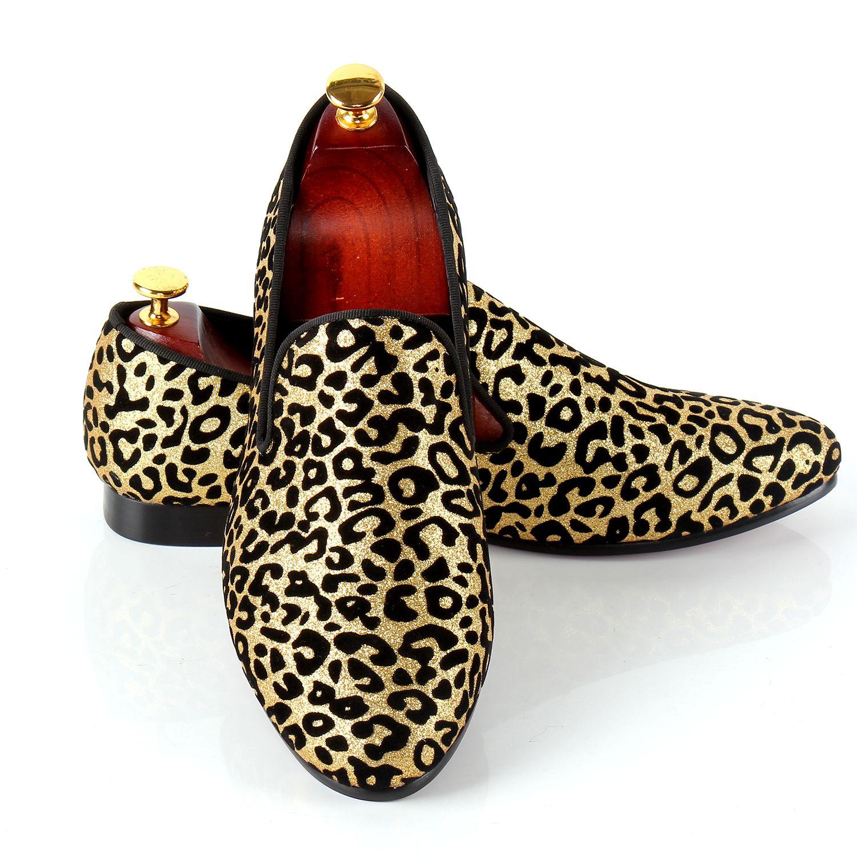 С леопардовым принтом Мужские модельные туфли слипоны свадебные туфли для событий красной подошвой Лоферы для женщин Бесплатная Прямая до...