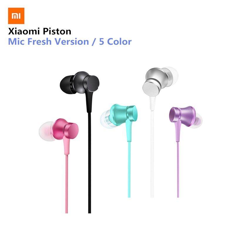 D'origine mi xiaomi Piston 3 Écouteurs Frais Jeunes Version In-Ear 3.5mm Écouteur Coloré Avec mi c Écouteurs 5 Couleur pour xiaomi 6
