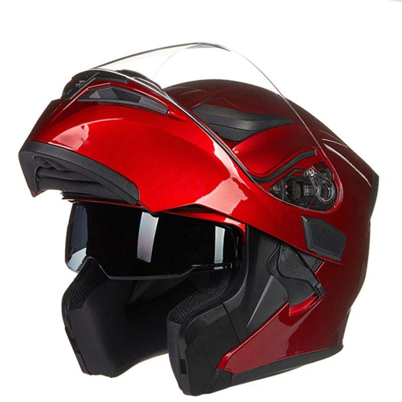 Nouvelle Arrivée JIEKAI 902 relevable double lentille moto casque doublure amovible et lavable conception Aérodynamique casque modulable