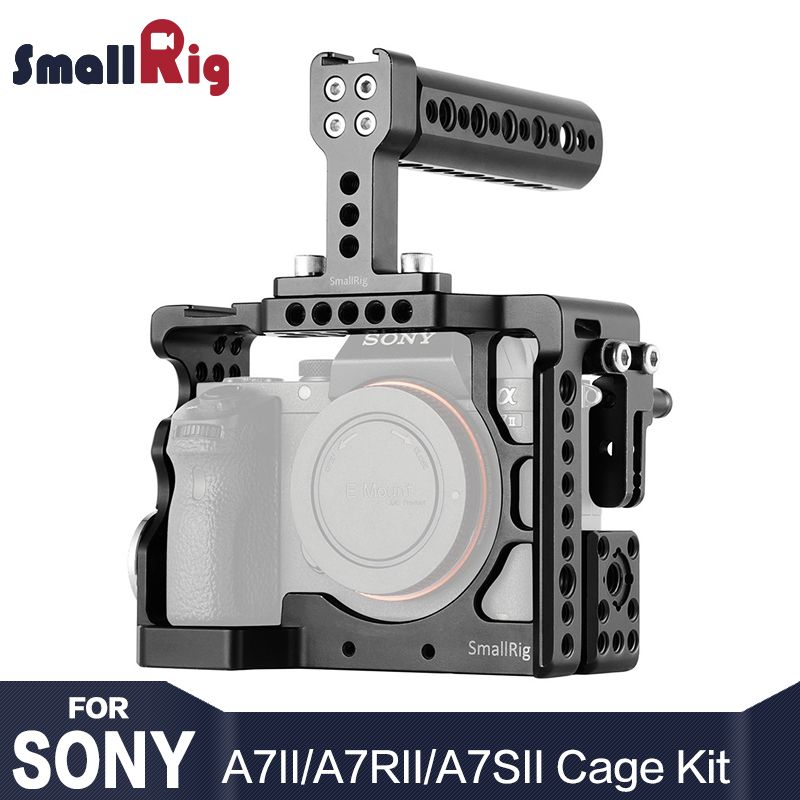 SmallRig A7M2 Camera Cage Kit For Sony A7R2 / A7 II / A7R II / A7S II With Top Handle Rossette Mount Aluminum Cage Rig 2014