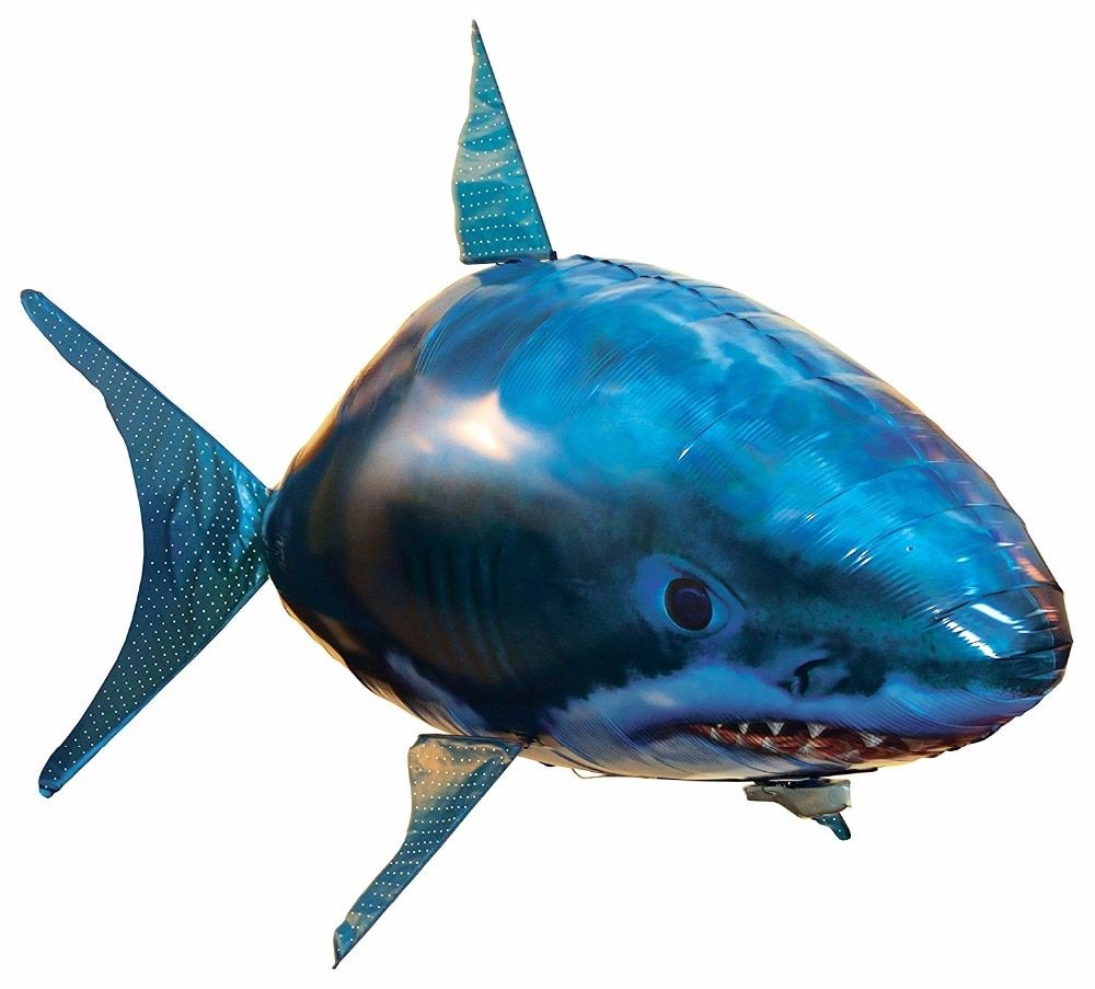 Remote Control Flying Air Shark Toy Flying Clown fish Toy  Robot Gift For Kids