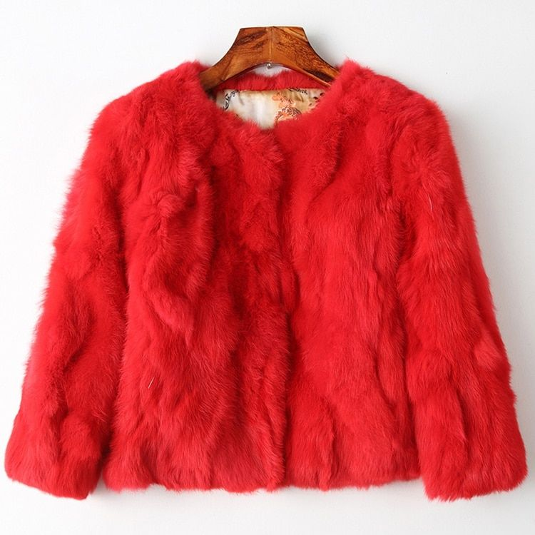 2018 NEW arrival 100% genuine real fur jacket women natural fur coat <font><b>short</b></font> style famele fashion autumn winter warm femme outwear