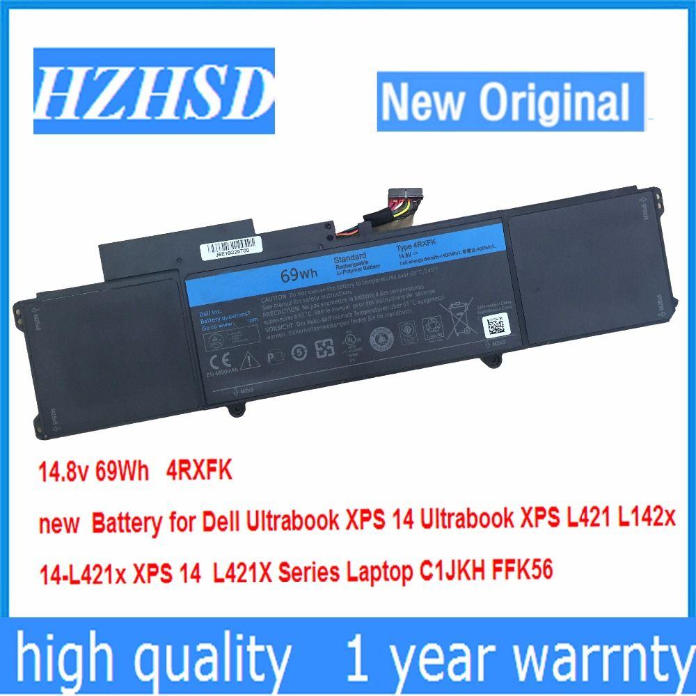 14.8v 69Wh New Original 4RXFK Battery for Dell XPS 14 Ultrabook XPS L421 L142x 14-L421x XPS 14 L421X Laptop C1JKH FFK56