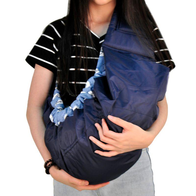 Qualité économique porte-bébé avant face Organique Coton Stretch sac à dos porté en écharpe Infantile enveloppe de côté panier Bleu rouge rose