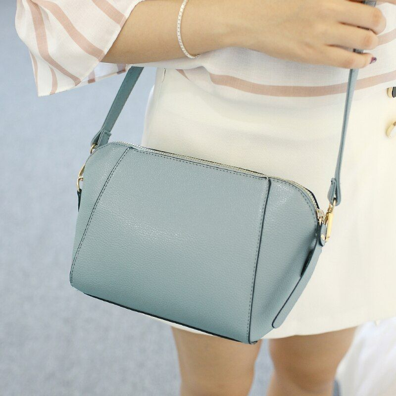 SUOAI 2018 nouveau Style d'été femmes Shell sacs mode Pu femme sac à bandoulière filles parti Messenger sacs