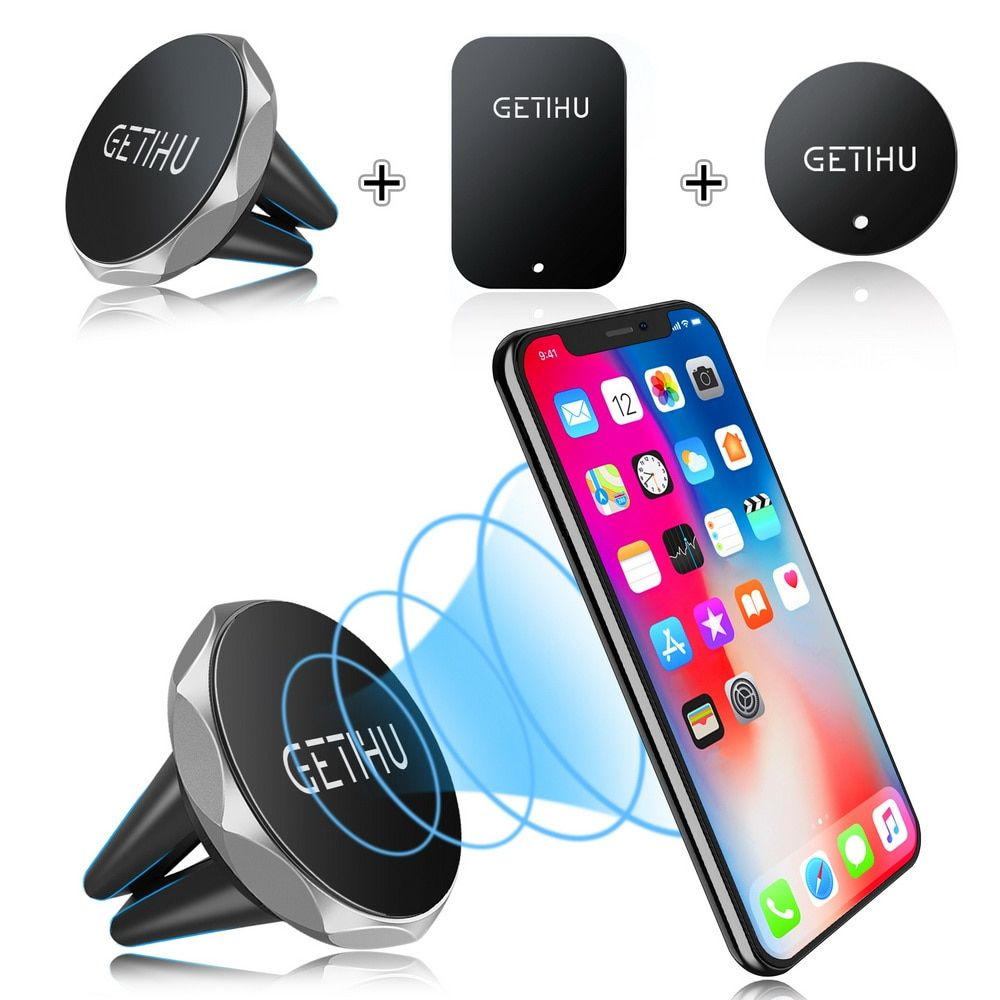 GETIHU Car Phone Holder Magnetic Air Vent Mount Mobile Smartphone Stand Magnet Support Cell in Car GPS For iPhone XS Max Samsung