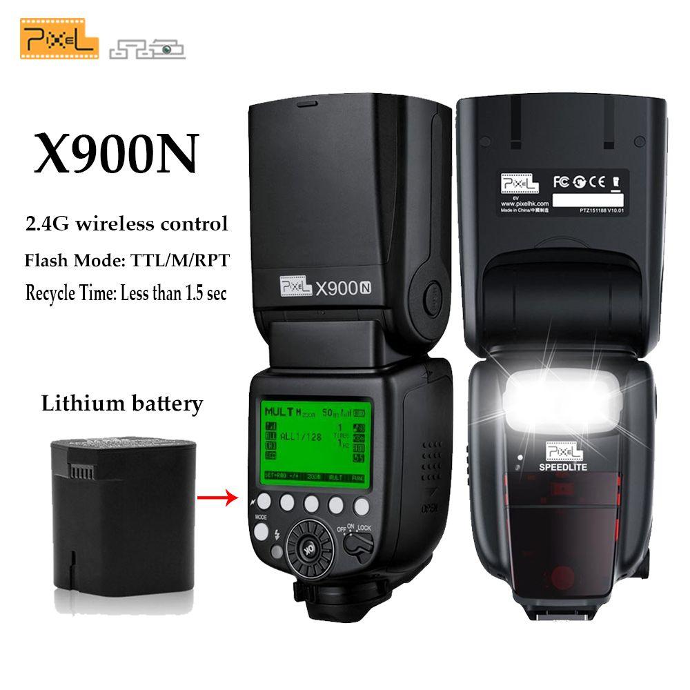 Pixel X900N X900 TTL 2,4G HSS Drahtloser Multifunktionale Lithium-Batterie Blitz Speedlite für Nikon DSLR Kameras mit LED-Licht