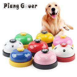Brinquedo de estimação Brinquedos Do Cão Treinamento Chamado Jantar Pequeno Sino Anel Pegada Para Filhote de cachorro de Pelúcia de Estimação Chamada