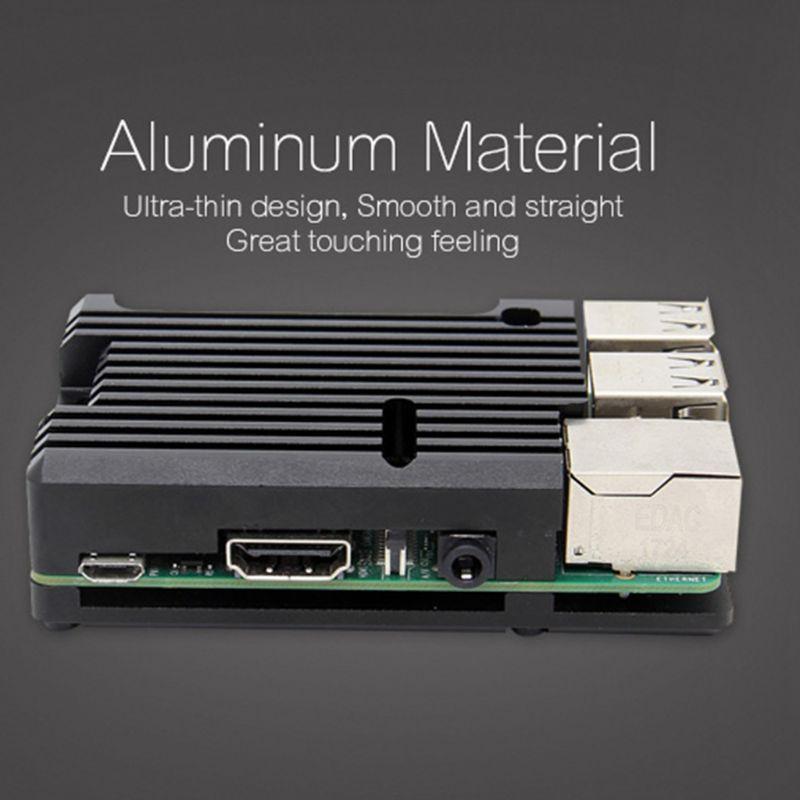 Radiateur en alliage d'aluminium étui de protection coque de refroidissement en métal pour framboise Pi 3 modèle B/B +/2B accessoires