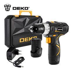 DEKO GCD12DU3 12 V Max Électrique Tournevis Perceuse sans fil Mini Sans Fil Conducteur à Réglage Électrique DC Lithium-Ion Batterie 3/8-pouces 2-Speed