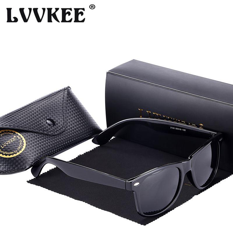 LVVKEE 2019 mode classique marque lunettes de soleil polarisées hommes/femmes Vintage UV400 conduite lunettes de soleil homme/femme Oculos de sol