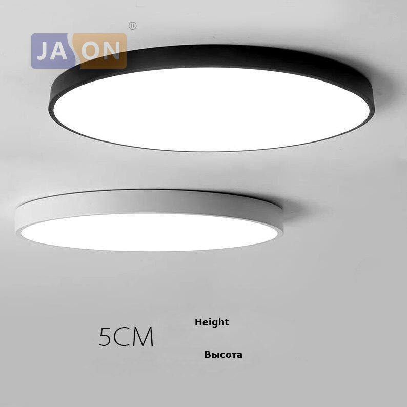 LED Modern Acryl Alloy Round 5cm Super <font><b>Thin</b></font> LED Lamp.LED Light.Ceiling Lights.LED Ceiling Light.Ceiling Lamp For Foyer Bedroom