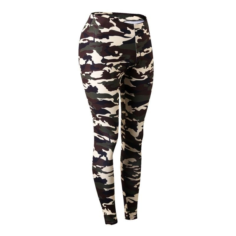 Camouflage Frauen Quick Dry Training Hosen Hohe Taille Flexible Atmungs Gym Pants Compression Bodybuilding Jogger Enge Hosen
