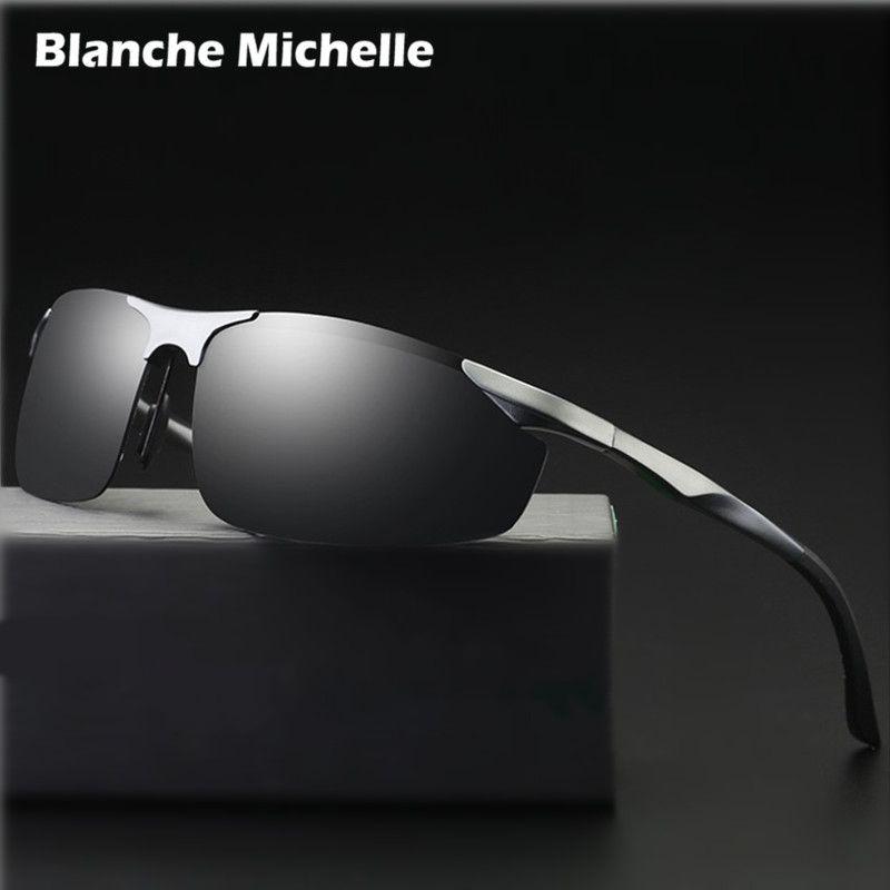 2018 aluminium magnésium lunettes de soleil hommes polarisés UV400 conduite nuit Vision lunettes Sport lunettes de soleil oculos de sol avec boîte