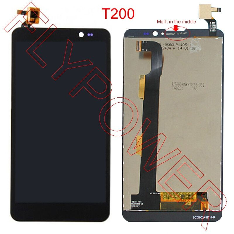 FOR THL T200 T200C LCD Screen Display With Touch Screen Panel Digitizer Assembly by free shipping; 100% warranty