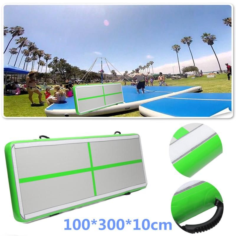AirTrack Air Tumbling Track Training Gymnastics Mats Set Inflatable Balance Equipment Exercise 100*300*10cm