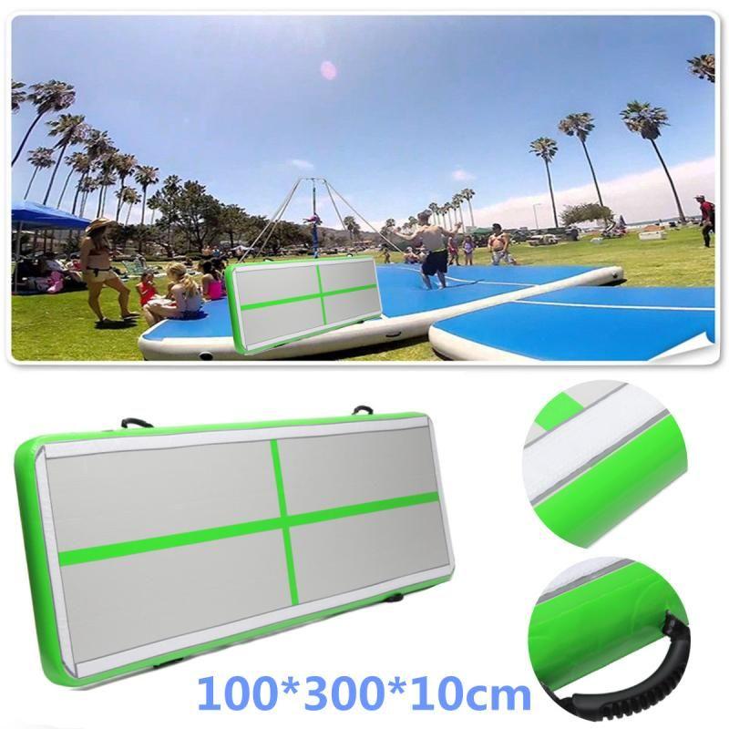 AirTrack Air Tumbling Track Training Gymnastics Mats Set Inflatable Balance Equipment Exercise 100*300*10cm