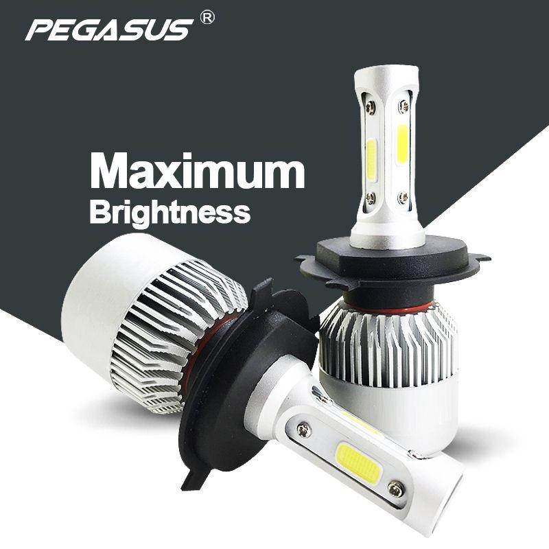 PEGASUS Car Headlight H1 H3 H4 H7 H11 HB3 9005 HB4 9006 HB1 9004 HIR2 9012 HB5 9007 H13 880 881 LED 6500K Auto Headlamp Bulb