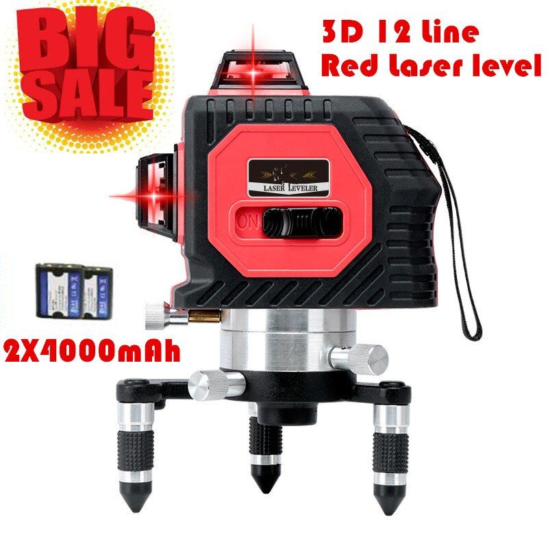 2017 New Professional 12Lines 3D Laser Level Self-Leveling 360 Horizontal And Vertical Cross Super Powerful Red Laser Beam Line