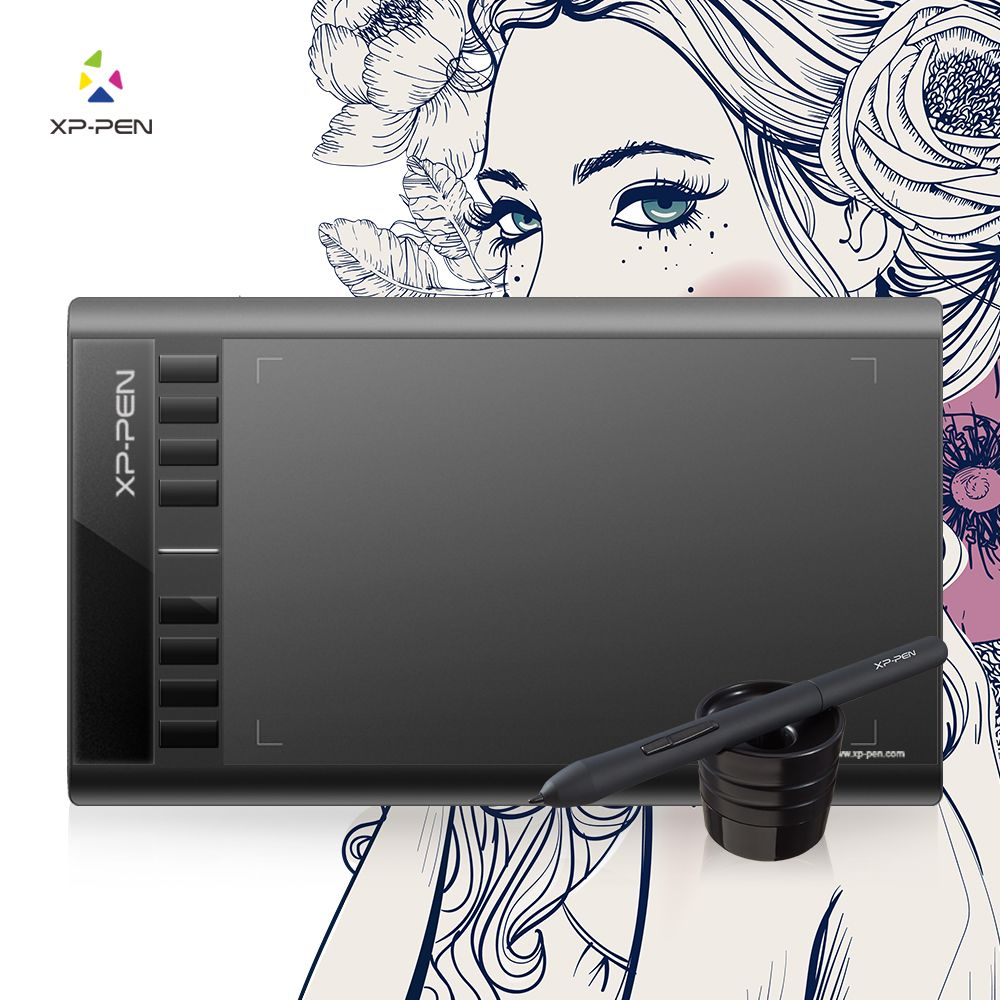 XP-Pen Star 03 Graphics Drawing Tablet with Battery-free PASSIVE Pen Digital Pen-8192-level pressure sensitivity