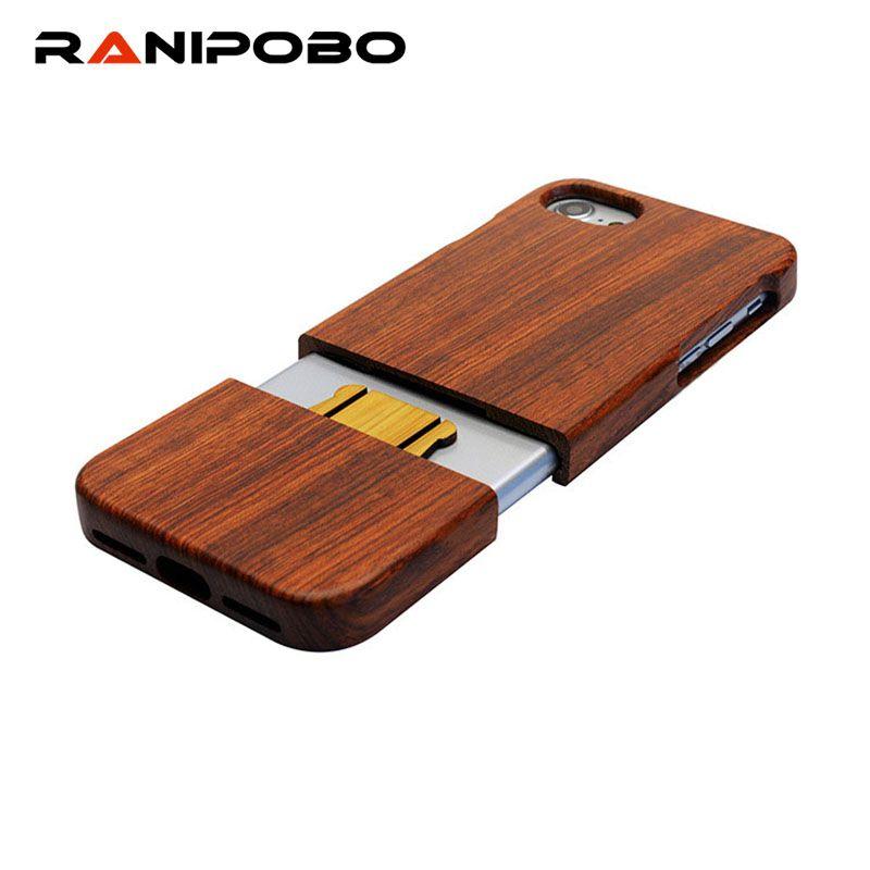 100% étui pour iphone 7 6 6 S Plus SE 5 5 s en bois véritable noyer palissandre bambou coques de téléphone pour iPhone7