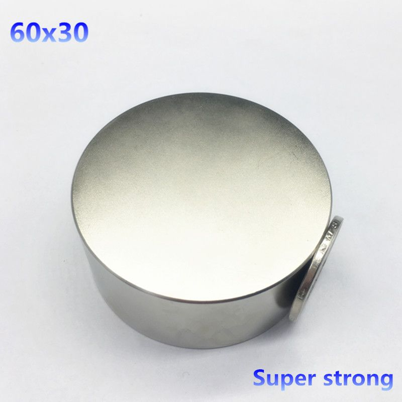 1pcs 60mmx30mm Round Cylinder Neodymium Permanent Magnets 60*30 NEW 60x30 mm Art Craft Connection