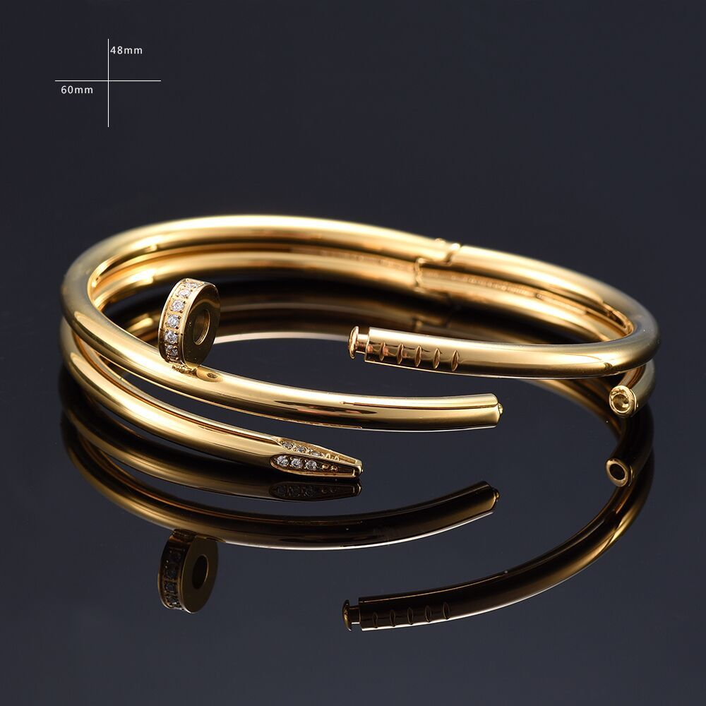 With store 2017 Trendy Screw Nail love Bracelet Gifts For Women 316L stainless Steel Fashion Men Jewelry Cuff Bracelets & Bangle