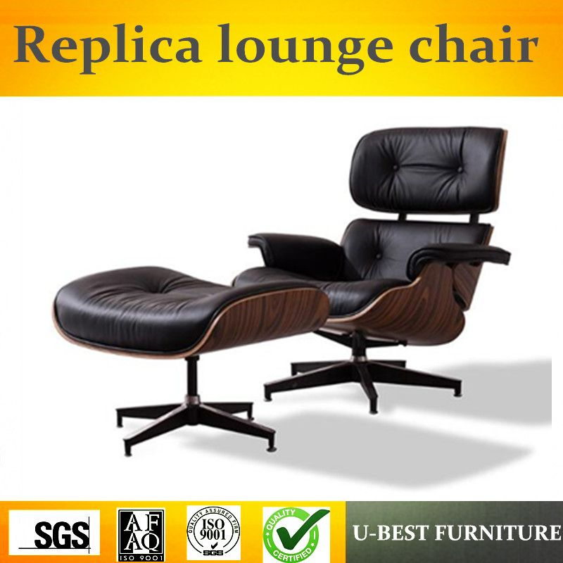 U-BEST high quality modern chaise furniture,replica lounge chair for living room,real leather Leisure hotel arm lounge