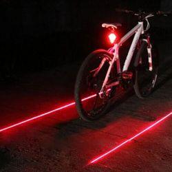 Велосипедные фары водостойкие 5 светодио дный 2 лазеры 3 режима велосипед задний фонарь безопасность Предупреждение ющий свет велосипедный ...