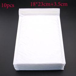 10 pcs (18*23 cm + 3.5 cm) Blanc Enveloppe Papier Bulle Sac de Courrier Bulle Sans Frais de Port sacs