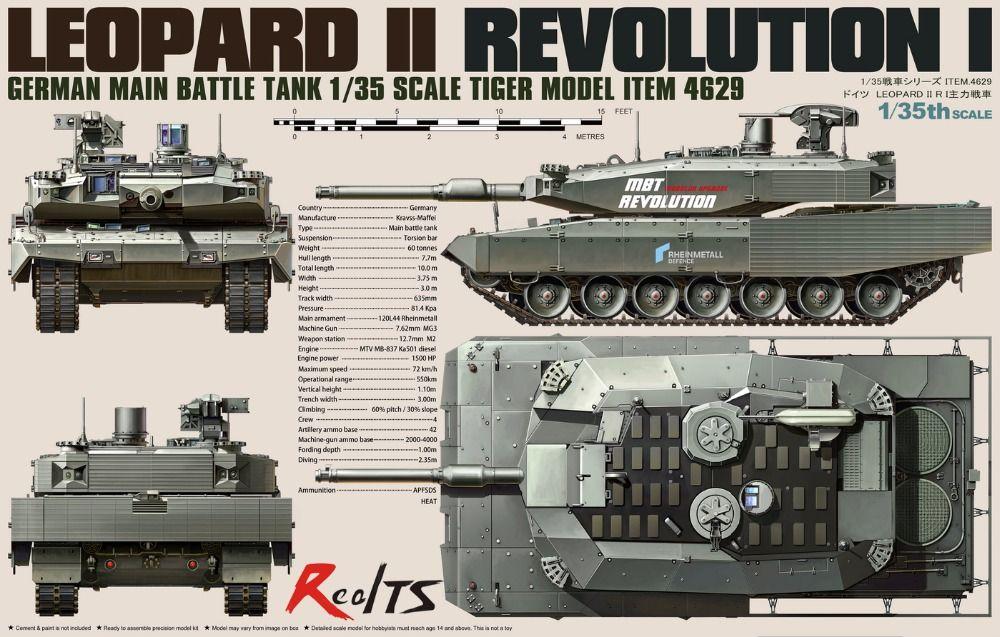 RealTS Modelo 1/35 4629 German Tiger MBT Leopard II Revolución-I