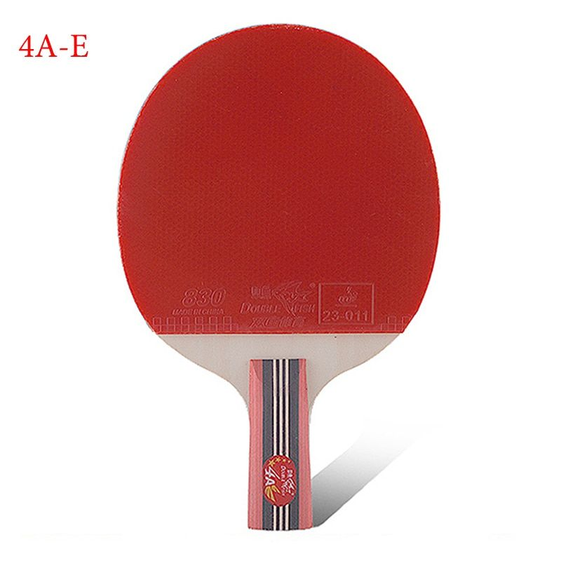 Настольный теннис поставки подлинной двойной рыбы четыре звезды прямой захват ракетка для настольного тенниса 4a-e начинающих и средний пин...