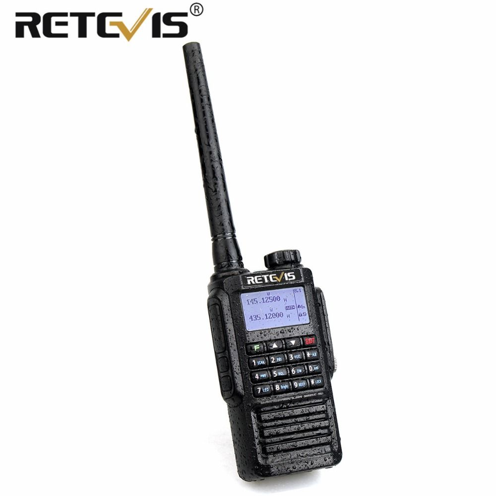 Retevis RT87 Professional IP67 Waterproof Walkie Talkie 5W 128CH VHF UHF Dual Band Scrambler VOX FM Two Way Radio Walkie-Talkie