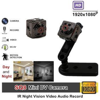 Tangmi Full HD видео 1080 P DV DVR Мини Камера видеокамера sq8 Micro Cam обнаружения движения с инфракрасным Ночное видение Прямая доставка