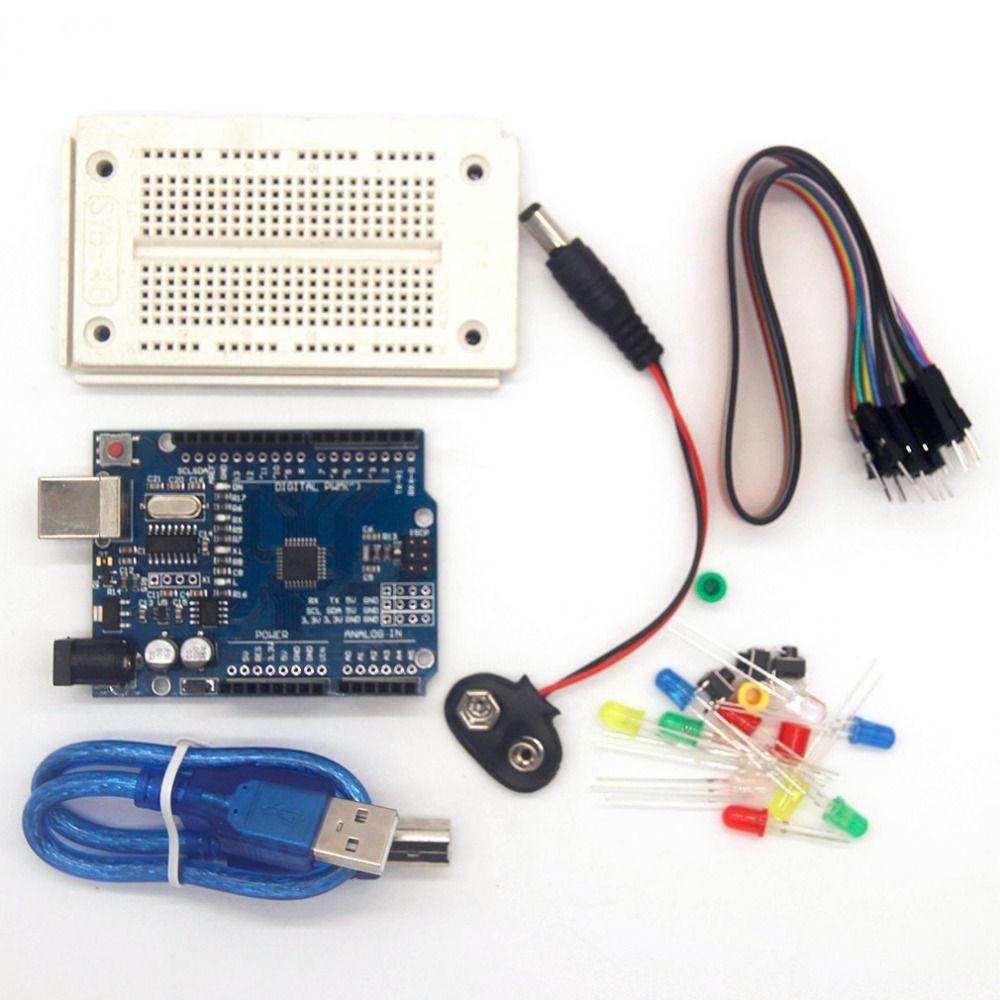 High Quality One Compatible Set Kit Profesional UNO Kit For Arduino UNO R3 Complete Accessories Starter Kit