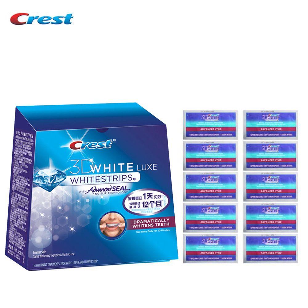 Гребень 3D Белый Whitestrips Расширенный яркие профессиональные Отбеливание зубов полоски устное hygieine без коробки с объемным