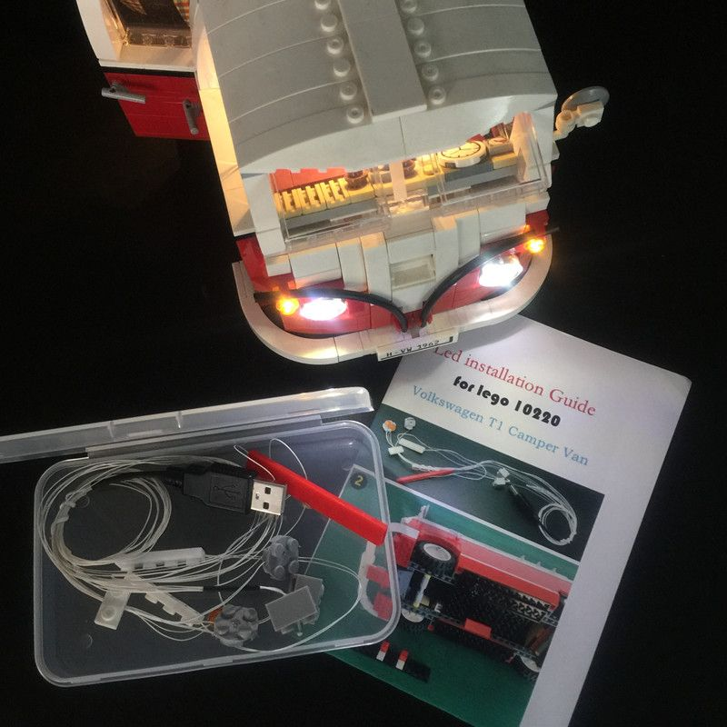 LED light up kit (only light included) for lego technic 10220 Compatible with 21001 Creator series T1 Camper Van Blocks